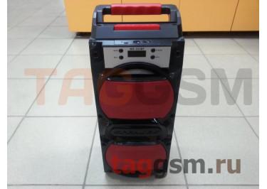 Колонка (MS-353BTch) (Bluetooth+USB+MicroSD+FM+LED+дисплей) (красная)