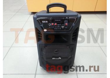 Колонка (EL8-10 ch) (Bluetooth+USB+MicroSD+FM+микрофон+пульт) (черная)