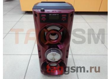 Колонка (MS-105BTch) (Bluetooth+USB+MicroSD+FM+LED+дисплей) (красная)