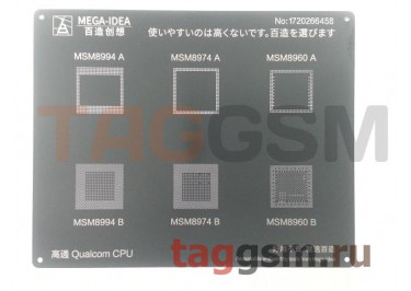 Трафарет BGA CPU MSM8994 AB /  MSM8974 AB /  MSM8960 AB MEGA-IDEA