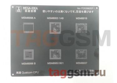Трафарет BGA CPU MSM8998 AB /  MSM8953 1AB B01 /  MSM8916 /  MSM8937 MEGA-IDEA