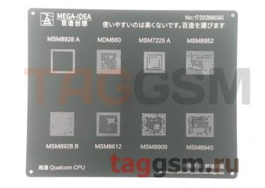 Трафарет BGA CPU MSM8928 AB /  MDM660 /  MSM8612 /  MSM7225 A /  MSM8909 /  MSM8952 /  MSM8940 MEGA-IDEA