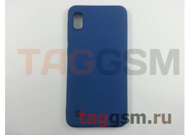 Задняя накладка для Samsung A10 / A105 Galaxy A10 (2019) (силикон, матовая, синяя) Brauffen, техпак