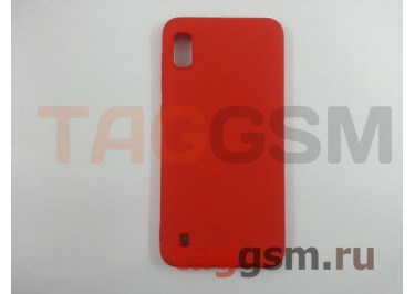 Задняя накладка для Samsung A10 / A105 Galaxy A10 (2019) (силикон, матовая, красная) Brauffen, техпак