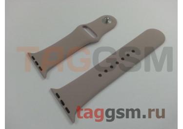 Ремешок для Apple Watch 42mm / 44mm (силикон, лаванда), размер S / M
