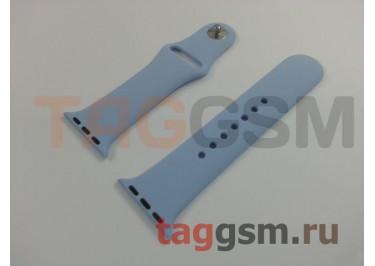 Ремешок для Apple Watch 38mm / 40mm (силикон, небесно-голубой), размер S / M