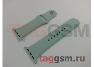 Ремешок для Apple Watch 42mm / 44mm (силикон, бирюзовый), размер S / M