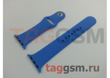 Ремешок для Apple Watch 38mm / 40mm (силикон, кобальт), размер M / L