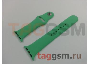 Ремешок для Apple Watch 38mm / 40mm (силикон, зеленый), размер M / L