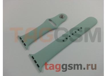 Ремешок для Apple Watch 38mm / 40mm (силикон, бирюзовый), размер M / L