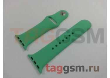 Ремешок для Apple Watch 38mm / 40mm (силикон, зеленый), размер S / M