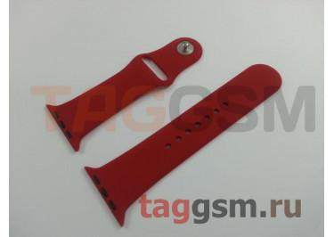 Ремешок для Apple Watch 42mm / 44mm (силикон, китайская роза), размер S / M