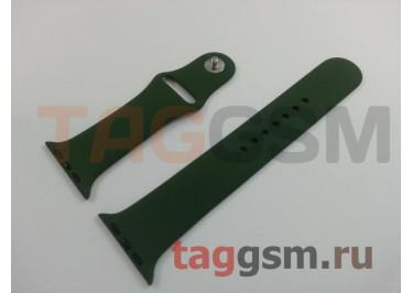 Ремешок для Apple Watch 42mm / 44mm (силикон, темно-зеленый), размер M / L