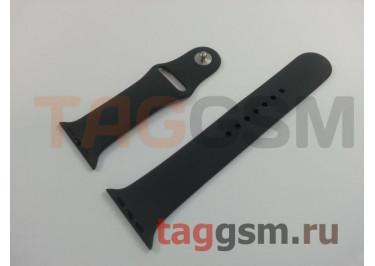 Ремешок для Apple Watch 42mm / 44mm (силикон, угольно-серый), размер M / L