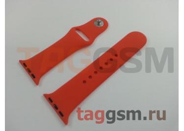 Ремешок для Apple Watch 38mm / 40mm (силикон, абрикосовый), размер S / M
