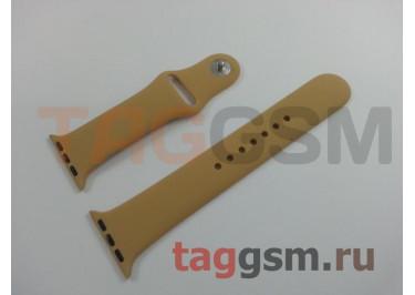 Ремешок для Apple Watch 38mm / 40mm (силикон, золотой), размер M / L
