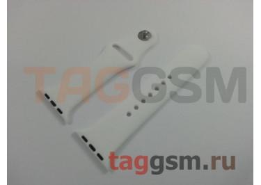 Ремешок для Apple Watch 38mm / 40mm (силикон, белый), размер S / M