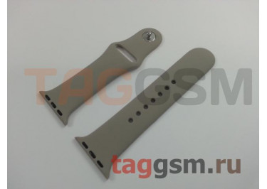 Ремешок для Apple Watch 38mm / 40mm (силикон, морская галька), размер S / M