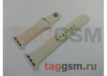 Ремешок для Apple Watch 38mm / 40mm (силикон, молочный), размер M / L