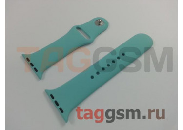 Ремешок для Apple Watch 42mm / 44mm (силикон, синее море), размер S / M