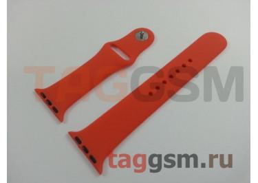 Ремешок для Apple Watch 38mm / 40mm (силикон, абрикосовый), размер M / L
