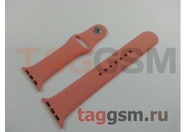 Ремешок для Apple Watch 38mm / 40mm (силикон, камелия), размер M / L