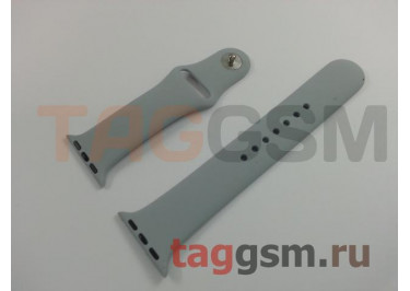 Ремешок для Apple Watch 38mm / 40mm (силикон, небесно-серый), размер M / L