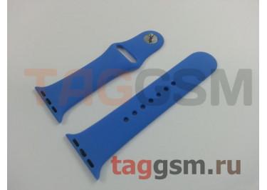 Ремешок для Apple Watch 38mm / 40mm (силикон, кобальт), размер S / M