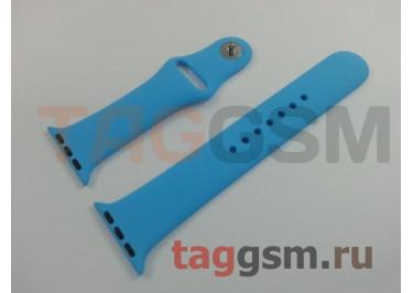 Ремешок для Apple Watch 38mm / 40mm (силикон, голубой), размер M / L