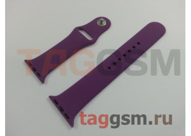 Ремешок для Apple Watch 38mm / 40mm (силикон, пурпурный), размер M / L