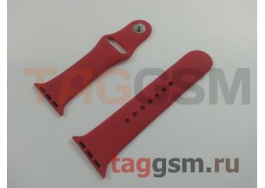 Ремешок для Apple Watch 38mm / 40mm (силикон, китайская роза), размер S / M