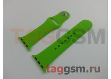 Ремешок для Apple Watch 38mm / 40mm (силикон, салатовый), размер S / M
