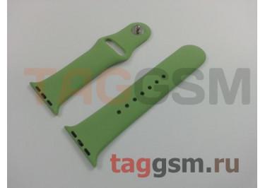 Ремешок для Apple Watch 38mm / 40mm (силикон, мята), размер S / M