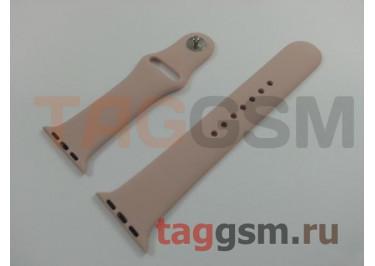 Ремешок для Apple Watch 38mm / 40mm (силикон, розовый песок), размер M / L