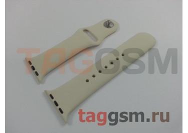 Ремешок для Apple Watch 38mm / 40mm (силикон, молочный), размер S / M
