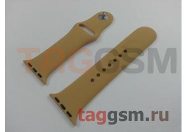 Ремешок для Apple Watch 38mm / 40mm (силикон, золотой), размер S / M