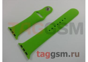 Ремешок для Apple Watch 38mm / 40mm (силикон, салатовый), размер M / L