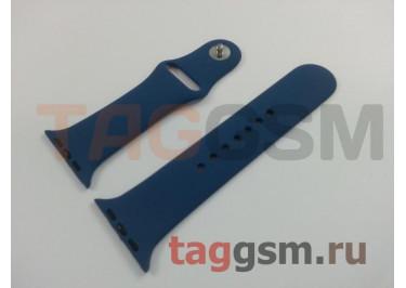 Ремешок для Apple Watch 42mm / 44mm (силикон, синий), размер S / M