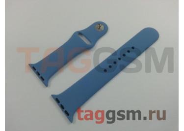 Ремешок для Apple Watch 38mm / 40mm (силикон, лазурный), размер M / L