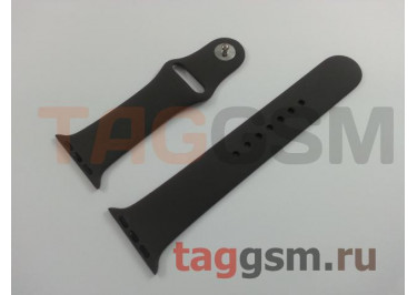 Ремешок для Apple Watch 38mm / 40mm (силикон, кофе), размер M / L