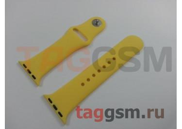 Ремешок для Apple Watch 38mm / 40mm (силикон, желтый), размер S / M