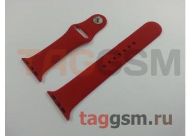 Ремешок для Apple Watch 38mm / 40mm (силикон, китайская роза), размер M / L