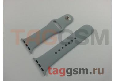 Ремешок для Apple Watch 38mm / 40mm (силикон, небесно-серый), размер S / M