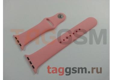 Ремешок для Apple Watch 38mm / 40mm (силикон, розовый), размер M / L