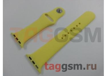 Ремешок для Apple Watch 38mm / 40mm (силикон, лимонная), размер M / L