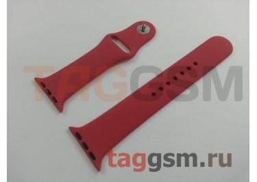 Ремешок для Apple Watch 38mm / 40mm (силикон, красная роза), размер M / L
