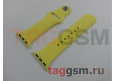 Ремешок для Apple Watch 38mm / 40mm (силикон, лимонный), размер S / M