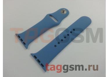 Ремешок для Apple Watch 38mm / 40mm (силикон, лазурный), размер S / M