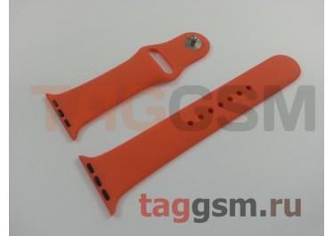 Ремешок для Apple Watch 38mm / 40mm (силикон, оранжевый), размер M / L