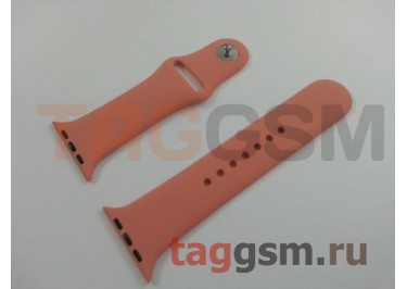Ремешок для Apple Watch 42mm / 44mm (силикон, камелия), размер S / M